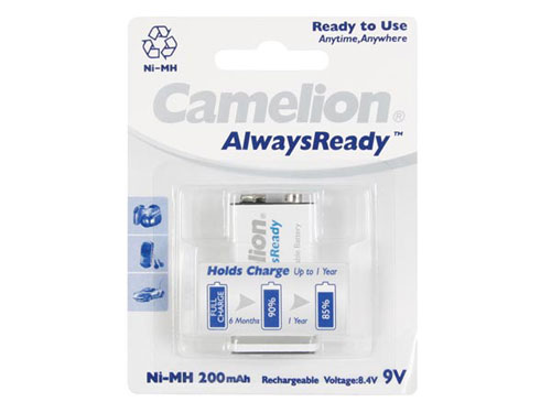 Camelion Alwaysready - 9 V - 200 mAh NiMH - E-BLOCK Battery