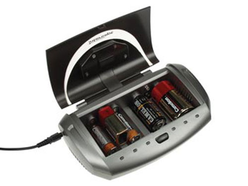 NiMH AA-AAA-6F22-C-D battery charger with display