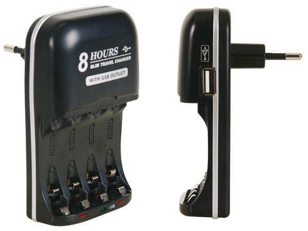 Universal quick charger for NiMH AA-AAA - batteries -USB