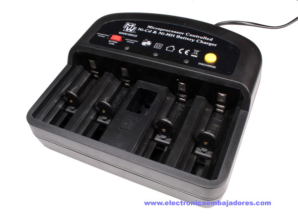 NiCd - NiMH - AA - AAA - 6F22 battery charger
