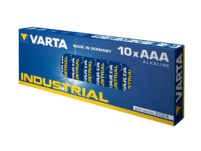 Varta - 1.5 V AAA Alkaline Battery - 10 Unit Industrial Blister Pack - 4003211111