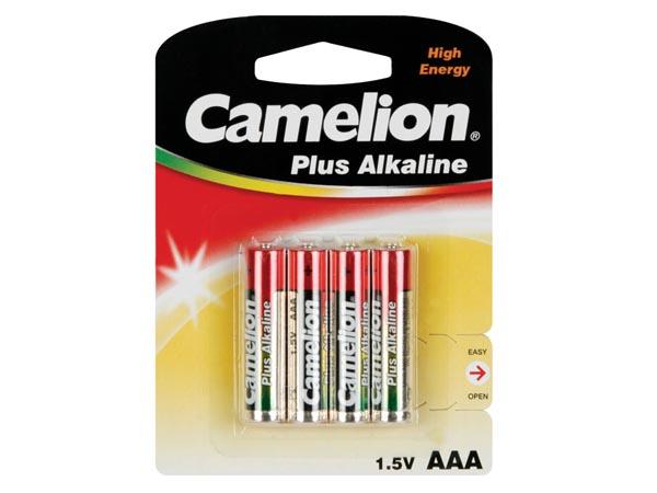 Pilha alcalina 1,5 V AAA - CAMELION - blister 4 unidades