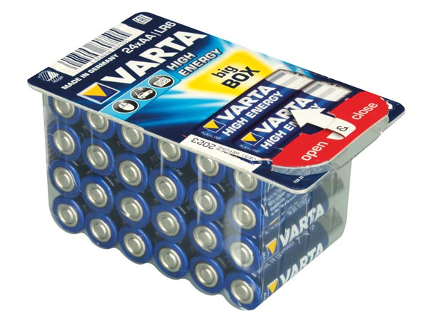 Pilha alcalina 1,5 V AA - VARTA - blister 24 unidades