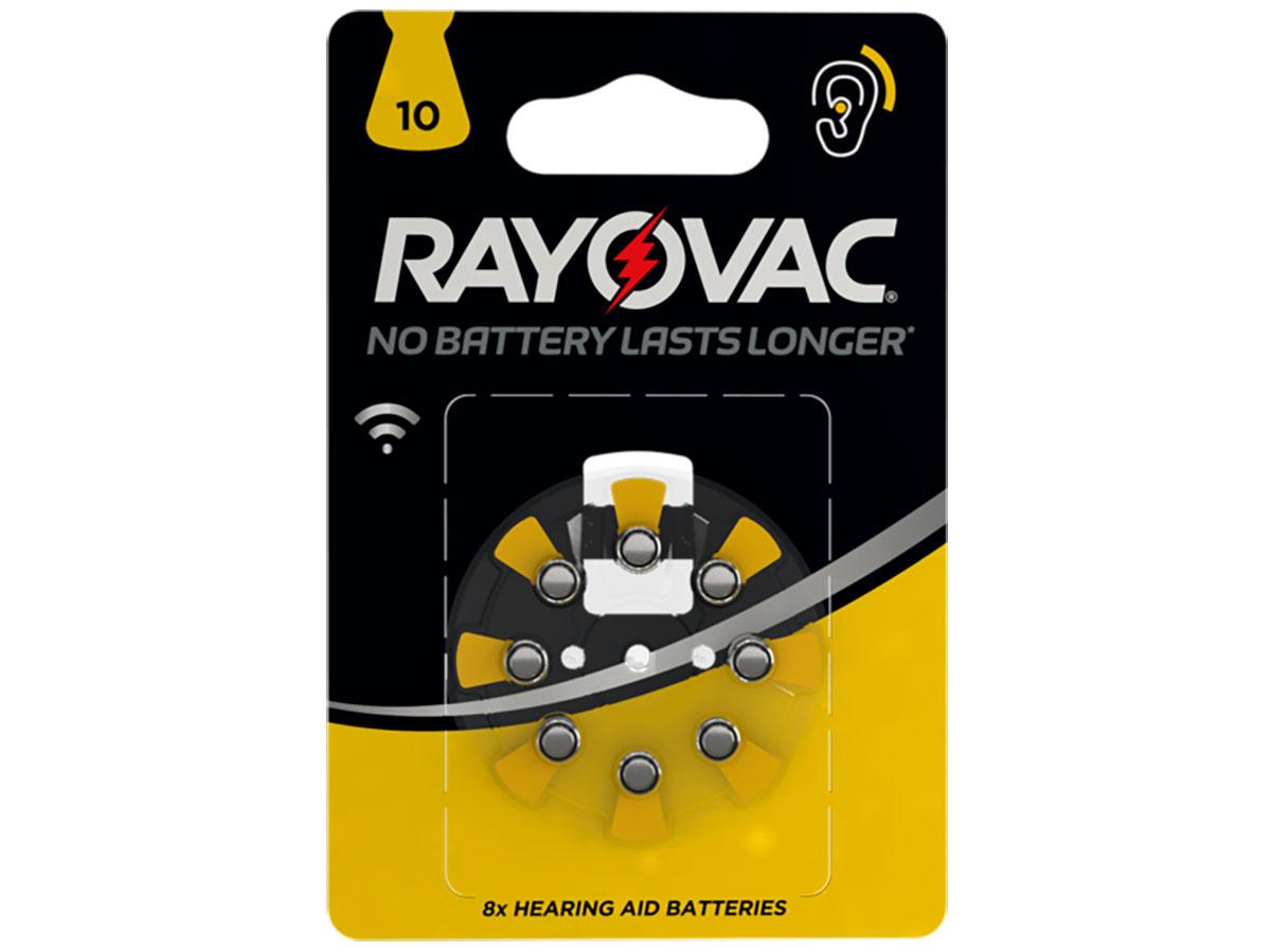 Rayovac 10AU - Pile Bouton Aide Auditive - 8 Piles - 5000252003809
