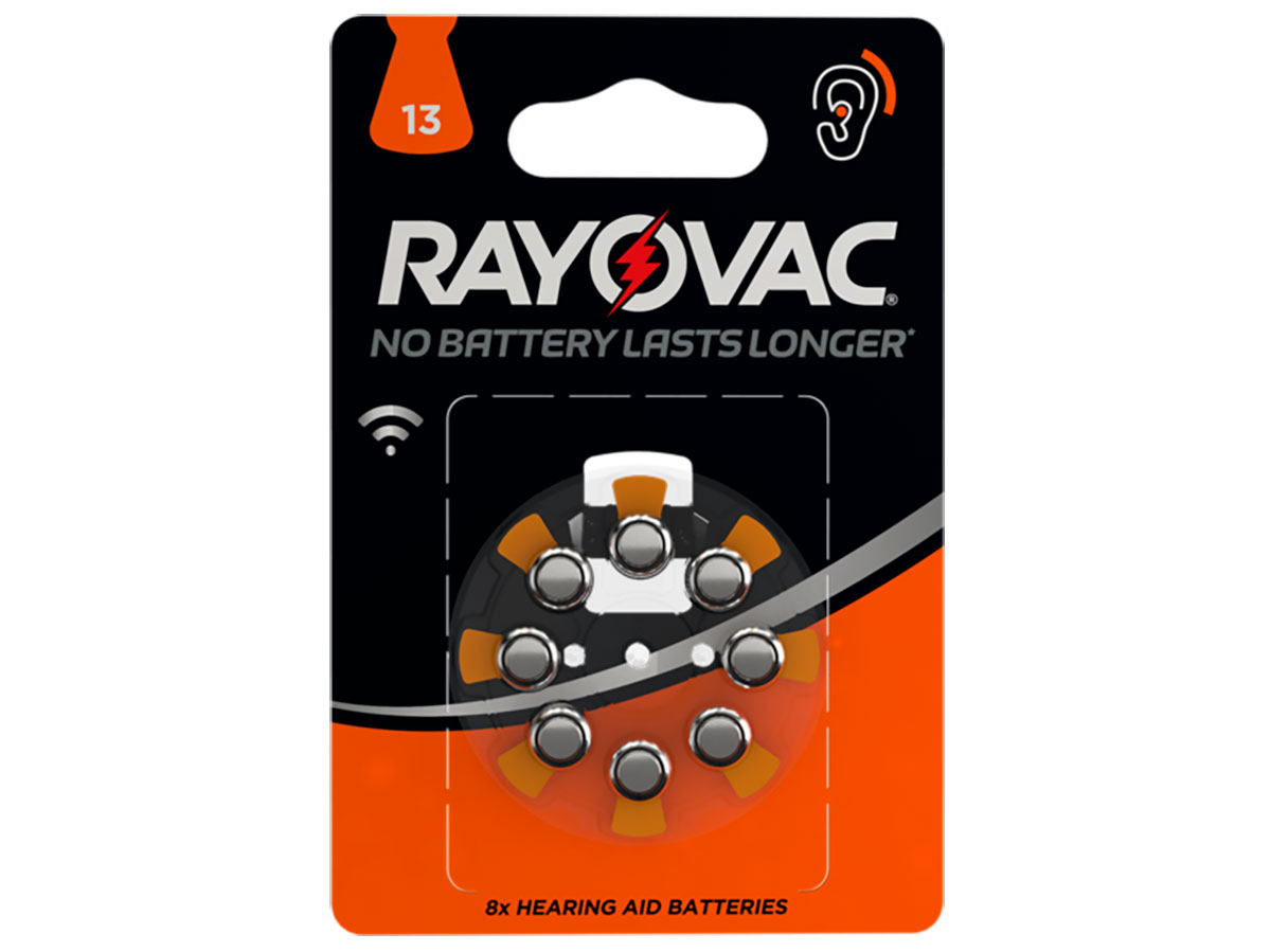 Rayovac 13AU - Hearing Aid Button Cell Battery - 8 Units - 5000252003786