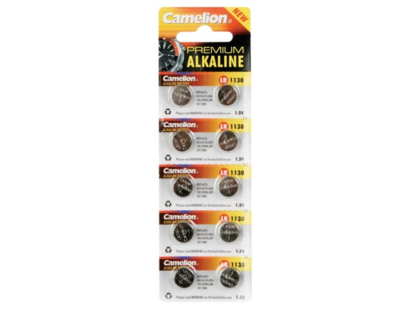 CAMELION - lr1130 - ag10 - d389 - sr54 - 1.5 V alkaline button cell battery