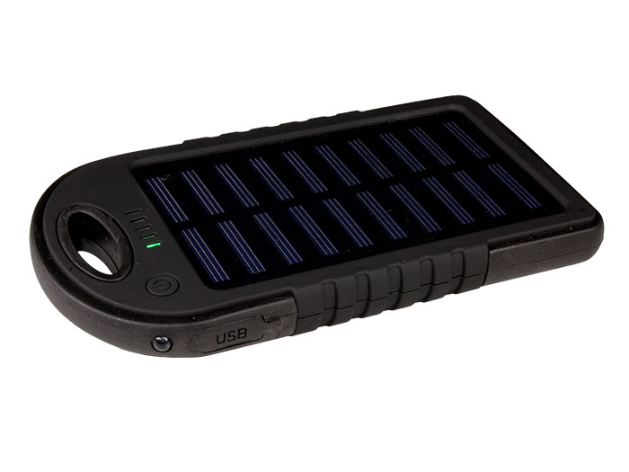 5 V 8000 mAH power bank - solar charger - torch
