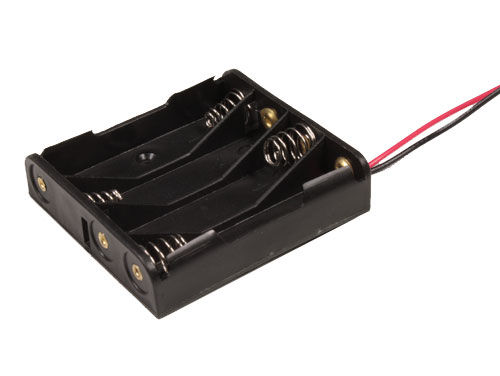 Battery Holder for 4 AAA Batteries with Cable