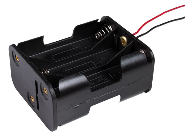 Battery Holder for 6 AA Batteries with Cable