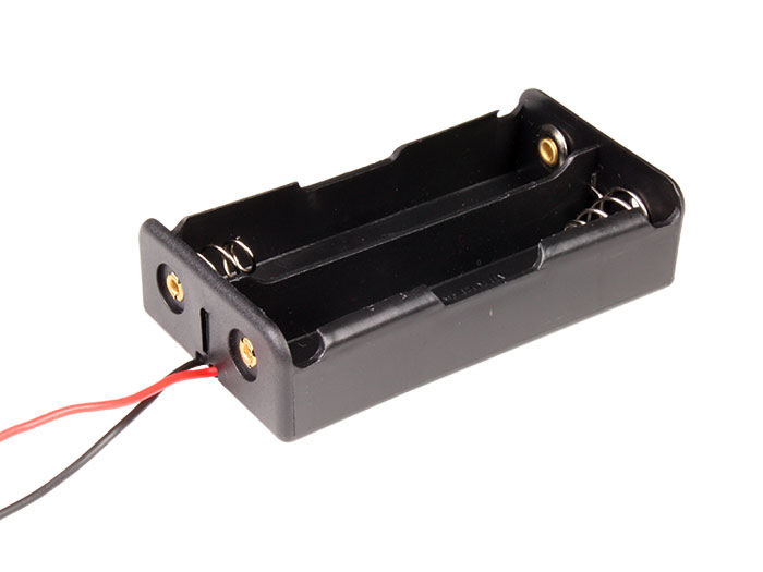 Battery holder for two 18650 batteries - with cable