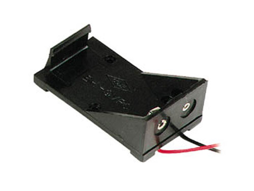 Battery holder for one 9 V battery with cable