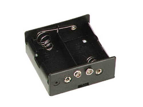 Battery holder for two C batteries with clip