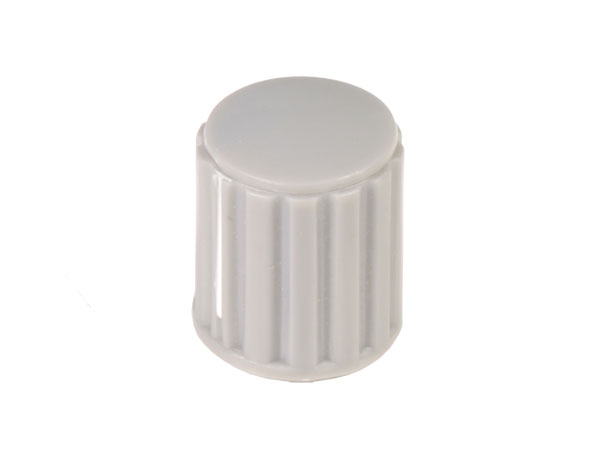 6 mm Grey Control Knob with White Line - 14 mm Diameter - KN146GS