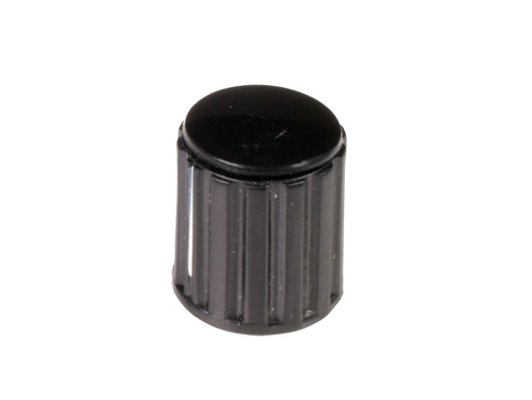 Velleman KN146BS - 6 mm Black Control Knob with White Line - 14 mm Diameter