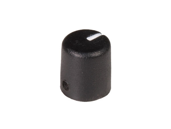 Botão 6 mm preto 14 mm de diâmetro
