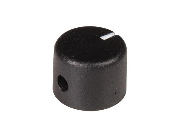 6 mm Black Control Knob - 20 mm Diameter