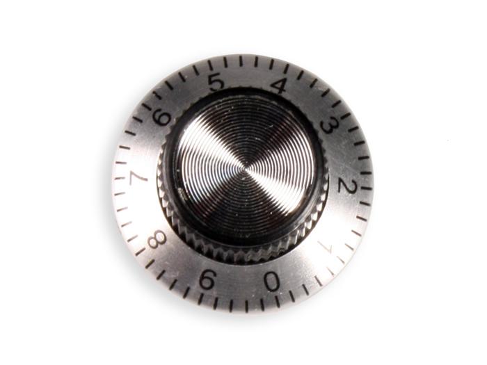 Bouton de Commande 6 mm Noir - 24 mm Diamètre avec Graduation