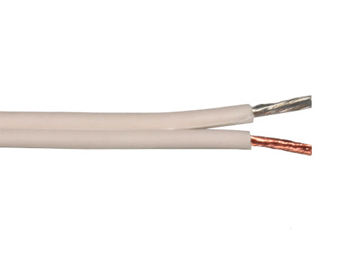 Emelec Q-102/075B - Cable Paralelo Blanco Polarizado 2 x 0,75 mm²
