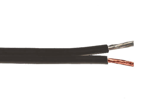 Emelec Q-102/075N - Black polarized Parallel Cable 2 x 0.75 mm²