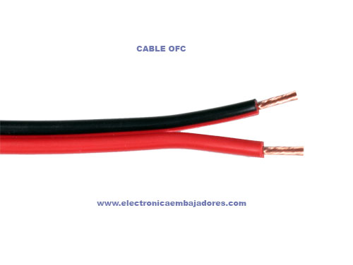 Black and Red polarized Parallel Cable 2 x 1,5 mm² - K 102/150