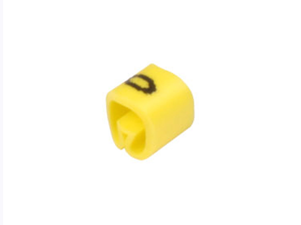 Bag of 100 cable markers Ø2.2-Ø5 mm - yellow no. 0