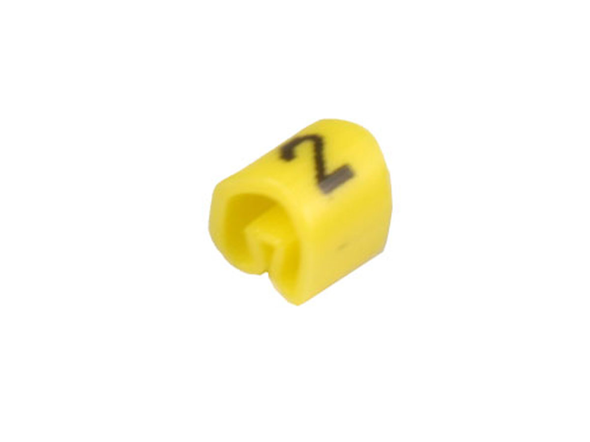 Bag of 100 cable markers Ø2.2-Ø5 mm - yellow no. 2