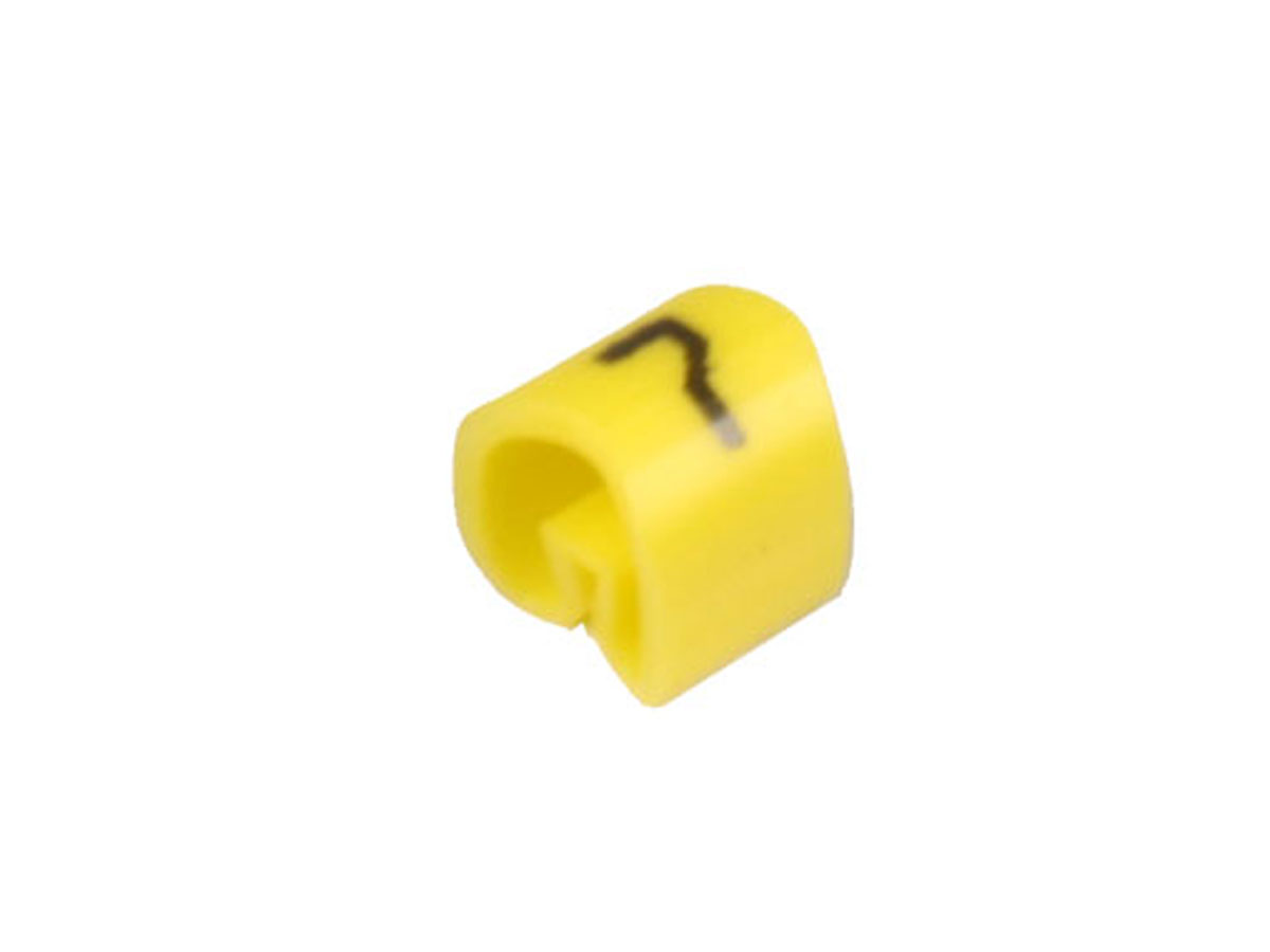 Bag of 100 cable markers Ø2.2-Ø5 mm - yellow no. 7