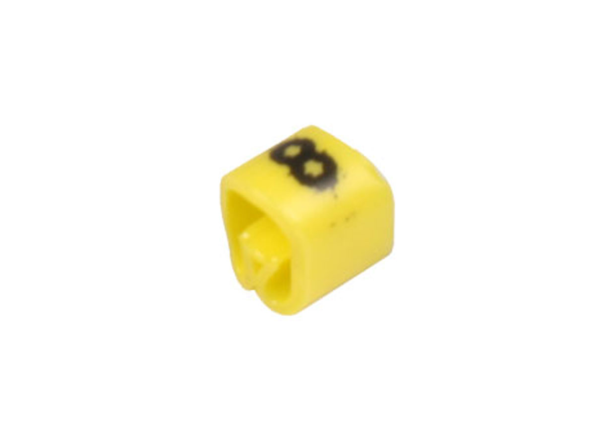 Saco 100 marcadores cabo Ø2,2-Ø5mm - amarelo Nº 8