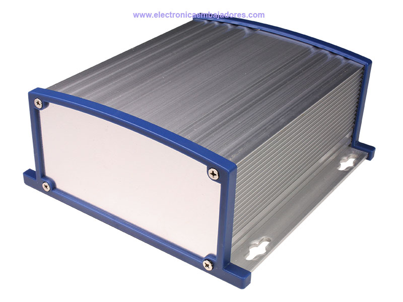 Multipurpose metal enclosure with radiator - 152 x 69 x 157 mm