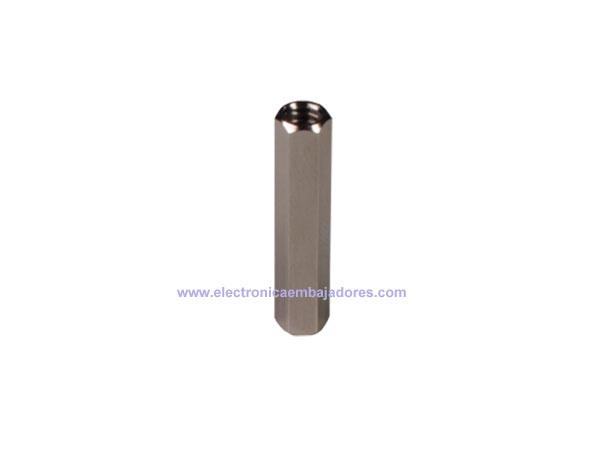 Separador Metálico Hexagonal Metrica 4 - Hembra-Hembra - 25 mm - SP1625