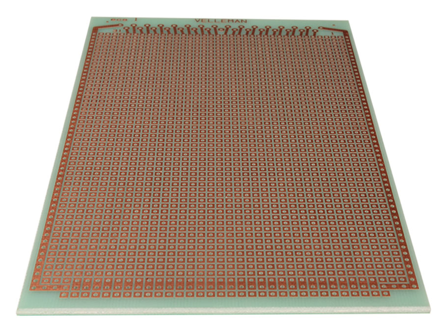 Fiberglass Stripboard with Interrupted Track Lines 100 x 160 mm