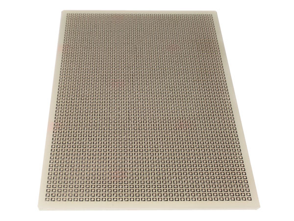Fiberglass Stripboard with Interrupted Track Lines 77.5 x 90 mm