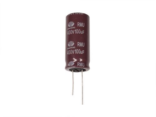Daewoo RMU - Condensador Electrolítico Radial 100 µF - 400 V - 105°C