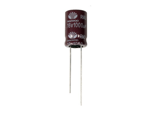 CONDENSADOR ELECTROLITICO RADIAL 1000UF - 16V 105ºC