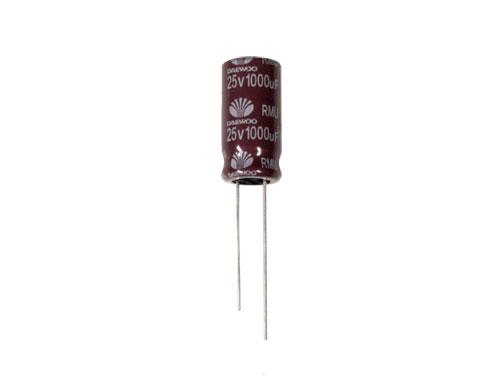 Daewoo RMU - Radial Electrolytic Capacitor 1000 µF - 25 V - 105°C