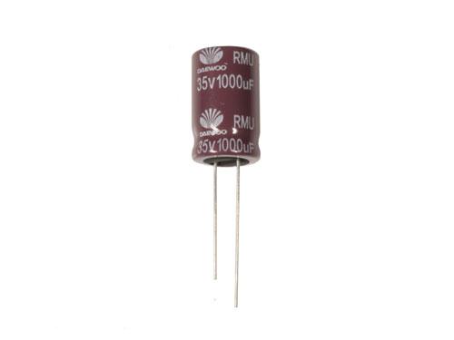 Condensador Electrolítico Radial 1000 µF - 35 V - 105°C