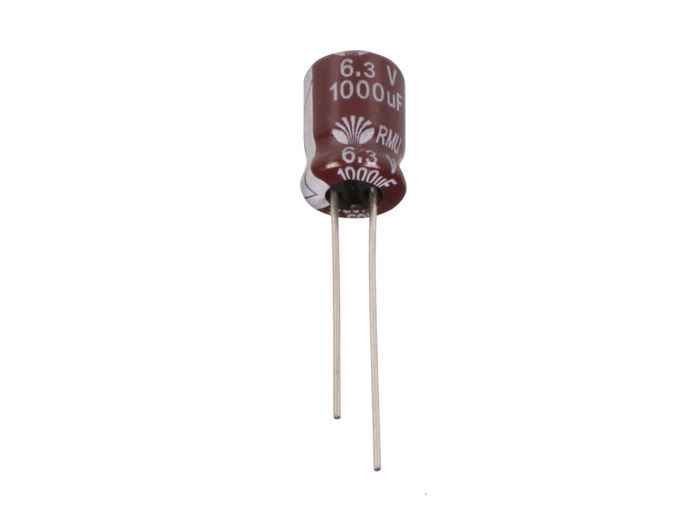 Radial Electrolytic Capacitor 1000 µF - 6.3 V - 85°C - UVY0J102MPD