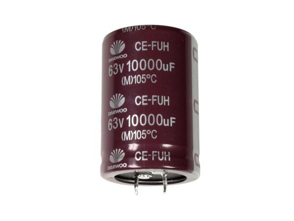 Condensador Electrolítico Radial 10000 µF - 63 V