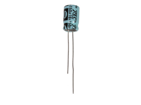 Condensador Electrolítico Radial 150 µF - 16 V