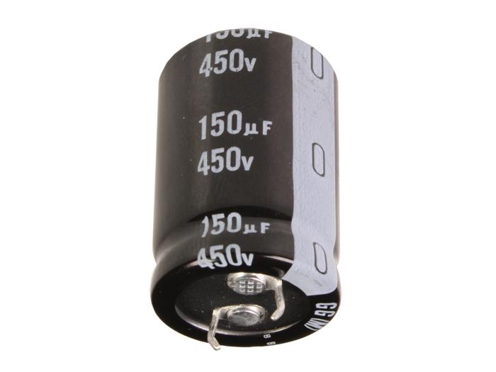 Condensador Electrolítico Radial 150 µF - 450 V - 105°C