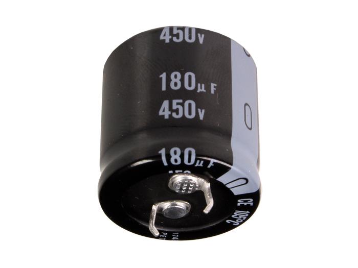 Condensador Electrolítico Radial 180 µF - 450 V - 105°C - LGU2W181MELB