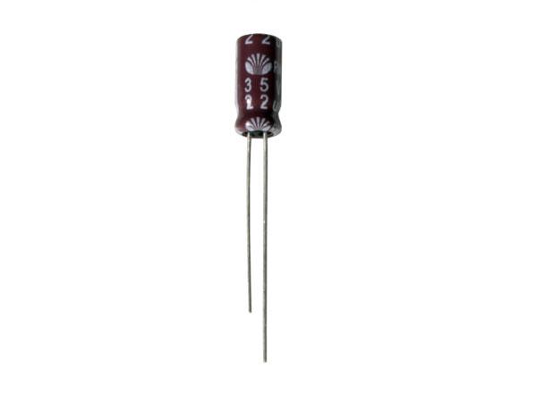 Condensador Electrolítico Radial 22 µF - 35 V - 105°C - 102814