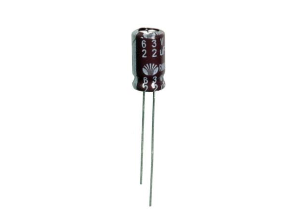 Condensador Electrolítico Radial 22 µF - 63 V - 105°C - 102732