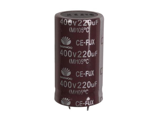 Condensador Electrolítico Radial 220 µF - 400 V - 105°C