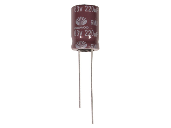 Radial Electrolytic Capacitor 220 µF - 63 V - 105°C