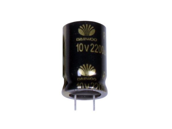 Condensador Electrolítico Radial 2200 µF - 10 V - 105°C