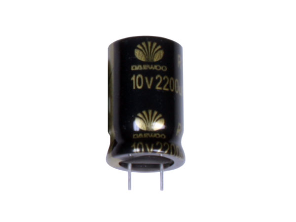 Radial Electrolytic Capacitor 2200 µF - 10 V - 105°C