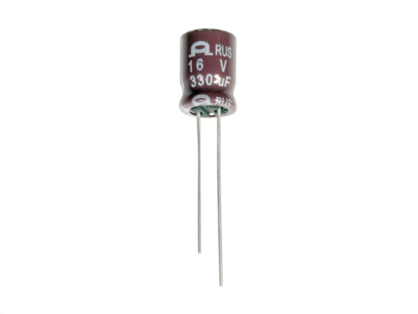 Radial Electrolytic Capacitor 330 µF - 16 V - 105°C