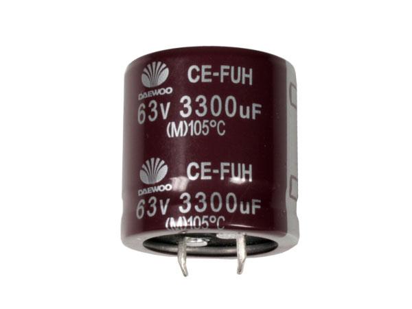 Condensador Electrolítico Radial 3300 µF - 16 V - 105°C