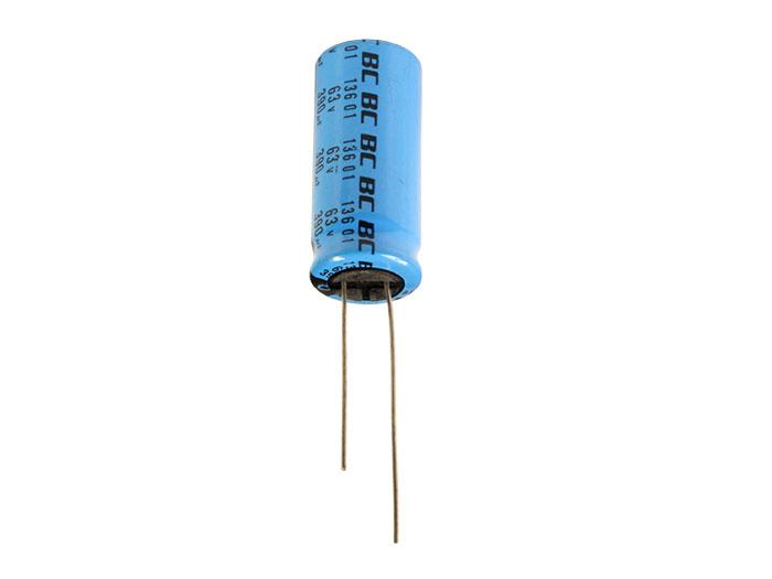Condensador Electrolítico Radial 390 µF - 63 V - 105°C